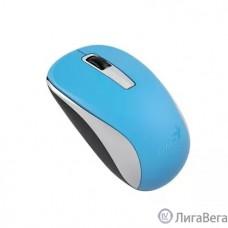 Genius Мышь NX-7005 Blue { оптическая, 800/1200/1600 dpi, радио 2,4 Ггц, 1хАА, USB} [31030127104]