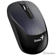 Genius ECO-8015 Iron Gray {шероховатое металлическое покрытие, оптическая, 800/1200/1600 dpi, радио 2,4 Ггц, аккумулятор, USB}  [31030005402]