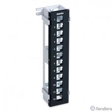 Hyperline PPWBL-12 Модульная настенная патч-панель на 12 портов, для модулей Keystone Jack, с подставкой