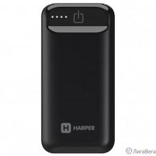 Harper Аккумулятор внешний портативный PB-2605 Black (5 000 мАч; Тип батареи: Li-Ion; Фонарик; LED индикатор уровня заряда; Вход: 5В/1А; Выход USB 1: 5В/1А)