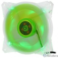 CROWN Вентилятор для компьютерного корпуса CMCF-12025S-1212 (120*120*25мм;Зелёный 4LED;1500 об/мин;35CFM;20Дб;Подшипник скольжения;3pin+MOLEX(папа-мама) 40+10см)