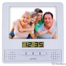Perfeo Часы-радио-фоторамка ″Foto″, серебряный, (PF-S6005)
