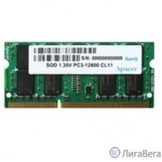 Apacer DDR3 SODIMM 8GB DV.08G2K.KAM PC3-12800, 1600MHz, 1.35V