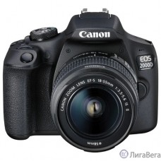 Canon EOS 2000D черный {24.1Mpix 18-55mm f/3.5-5.6 III 3″ 1080p Full HD SDXC Li-ion (с объективом)}