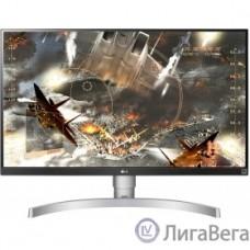 LCD LG 27″ 27UL650-W белый {IPS 3840x2160 5ms 350cd 1000:1(Mega DCR) DisplayPort HDMIx2 Audioout HAS Pivot vesa}