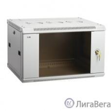 ITK LWR3-06U64-GF Шкаф LINEA W 6U 600x450 мм дверь стекло, RAL7035 [LWR3-06U64-GF]