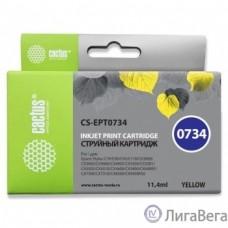 Cactus C13T0734 Картридж  для Epson Stylus С79/ C110/ СХ3900/ CX4900/ CX5900/ CX7300/ CX8300/ CX9300, желтый