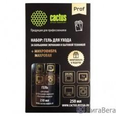 CACTUS CSP-S3004B Чистящий набор (салфетки + гель) коробка 2шт 25х25см 18х18см 250мл