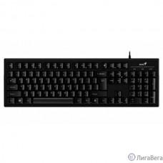 Клавиатура Genius Smart KB-101 Black {классическая раскладная, SmartGenius, влагоустойчивая, клавиш 105, провод 1,5 м, USB} [31300006411]
