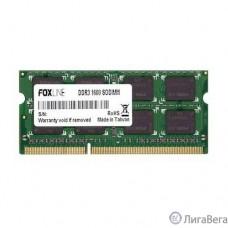 Foxline DDR3 SODIMM 4GB FL1600D3S11SL-4G (PC3-12800, 1600MHz, 1.35V)