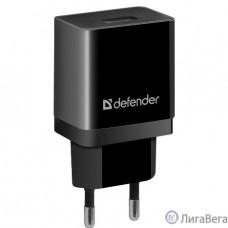Defender Сетевой адаптер 1xUSB, 5V/2.1А, пакет, черный (EPA-10) (83572)