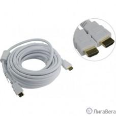Aopen Кабель HDMI 19M/M ver 2.0, 10М, 2 фильтра, белый