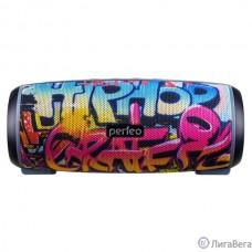 Perfeo Bluetooth-колонка ″HIP HOP″ FM, microSD, USB, AUX, мощность 12Вт, 2600mAh, граффити PF_A4336