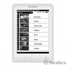 Электронная книга Digma E63W 6″ E-Ink Carta 800x600 600MHz/4Gb/microSDHC белый