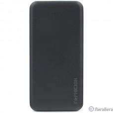 Гарнизон GPB-115 Портативный аккумулятор 10000мА/ч, USB1: 1A, USB2: 2.1A, черный