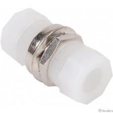 Hyperline FA-S00Z-FC/FC-N/GN-SL Оптический проходной адаптер FC-FC, SM, simplex, корпус металл, зеленые колпачки