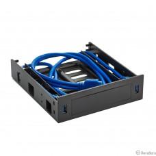 Exegate EX280445RUS Салазки (переходник) для установки HDD 2.5/3.5″  в отсек 5.25″ с 2*USB3.0  Exegate  HD-2U3