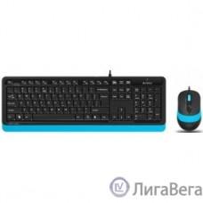 A-4Tech Клавиатура + мышь A4 Fstyler F1010 BLUE клав:черный/синий мышь:черный/синий USB [1147546]