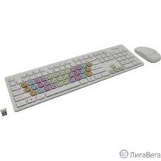 Комплект клавиатура + мышь с цветными клавишами Smartbuy 218346AG белый [SBC-218346AG-W]