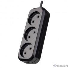 Perfeo Сетевой удлинитель без заземления ″RU POWER″, PF_B4066  (3,0м, 3 розетки, чёрный (Р16-012))