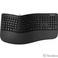 Microsoft Клавиатура Ergonomic for Business черный USB Multimedia Ergo (подставка для запястий) (LXN-00011)