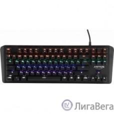 CBR KB 882 Armor, Клавиатура механическая игровая, USB, 87 кл., свитчи Outemu Blue, Anti-Ghosting, N-key rollover, подсветка, 60 млн. наж., прорезин. ножки, поверхность металл, длина кабеля 1,8 м