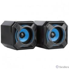CBR CMS 498 Blue, Акустическая система 2.0, питание USB, 2х5 Вт (10 Вт RMS), материал корпуса пластик, 3.5 мм линейный стереовход, регул. громк., длина кабеля 1,2 м, цвет чёрный-голубой
