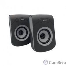 CBR CMS 366 Grey, Акустическая система 2.0, питание USB, 2х3 Вт (6 Вт RMS), материал корп. пластик, покрытие ″софт-тач″, 3.5 мм лин. стереовход, регул. громк., длина кабеля 1,2 м, цвет чёрный-серый