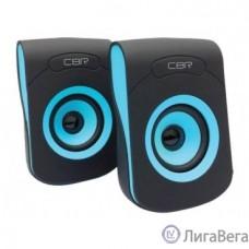 CBR CMS 366 Blue, Акустическая система 2.0, питание USB, 2х3 Вт (6 Вт RMS), материал корп. пластик, покрытие ″софт-тач″, 3.5 мм лин. стереовход, регул. громк., длина кабеля 1,2 м, цвет чёрный-голубой