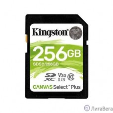 SecureDigital 256Gb Kingston SDS2/256GB {SDXC Class 10 UHS-I U3 Canvas Select Plus}