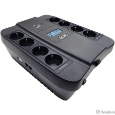 UPS PowerCom SPD-750U LCD {Line-Interactive, 750VA / 450W, 8xEURO: 4 с резервным питанием, 4 с фильтрацией, USB}