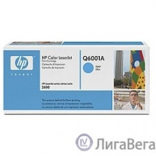 HP Q6001A Картридж ,Cyan{Color LaserJet 2600, Cyan, (2000стр.)}