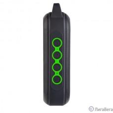 Perfeo Bluetooth-колонка ″FORCE″ FM, MP3 microSD, USB, AUX, TWS, мощность 15Вт, 2600mAh, черная/зеленая [PF_A4949 ]