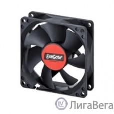 Exegate EX283373RUS Вентилятор ExeGate ExtraSilent ES08015S3P, 80x80x15 мм, подшипник скольжения, 3pin, 1600RPM, 23dBA