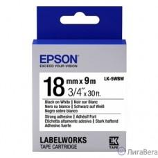 Epson Картридж с лентой C53S655012 магнитная, бел./черн.  18мм/9м - LK5WBW