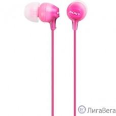 Наушники вкладыши Sony MDR-EX15LP 1.2м розовый проводные (в ушной раковине) [MDREX15LPPI.AE]