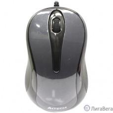 Мышь A4TECH V-Track Padless N-360 серый оптическая (1000dpi) USB [631918]