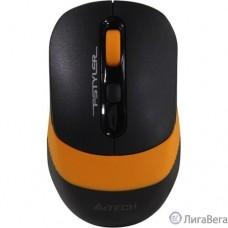 A-4Tech Мышь Fstyler FG10 черный/оранжевый оптическая (2000dpi) беспроводная USB [1147568]