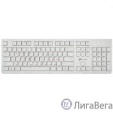 Клавиатура Oklick 505M белый USB slim {1196547}