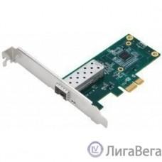 D-Link DGE-560SX/D1A Сетевой PCI Express адаптер с 1 портом 1000Base-X SFP (низкопрофильное крепление в комплекте)