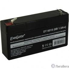 Exegate EX285770RUS Аккумуляторная батарея DT 6015 (6V 1.5Ah, клеммы F1)