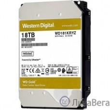 18TB WD Gold  (WD181KRYZ) {SATA III 6 Gb/s, 7200 rpm, 512Mb buffer}