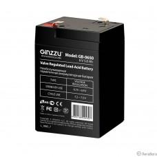Ginzzu Батарея GB-0650 (RTL) свинцово-кислотный, необслуживаемый, технология AGM, 6В / 5.0Ач,  клемма 5/7мм