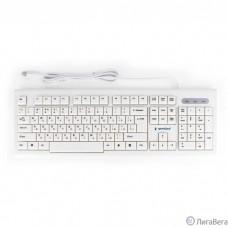 Клавиатура Gembird KB-8354U,{USB, бежевый/белый, 104 клавиши, кабель 1,45м}