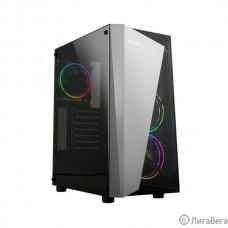 Корпус ZALMAN S4 Plus, без БП, боковое окно (акрил), черный,  ATX