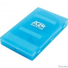Внешний корпус 2.5″ SATA HDD/SSD AgeStar SUBCP1 blue (USB2.0, пластик, безвинтовая конструкция) (SUBCP1 (BLUE))