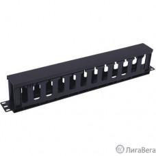 5bites CM-106B Панель-органайзер кабеля ГРЕБЕНКА / КРЫШКА / 1U / 19″ / BLACK