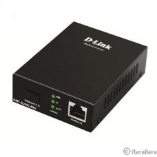 D-Link DMC-G20SC-BXU/A1A WDM медиаконвертер с 1 портом 100/1000Base-T и 1 портом 1000Base-LX с разъемом SC (Tx: 1310 мкм; Rx: 1550 мкм) для одномодового оптического кабеля (до 20 км)