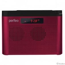 Perfeo радиоприемник цифровой ТАЙГА FM+ 66-108МГц/ MP3/ встроенный аккум,USB/ бордовый (I70RED) [PF_C4940]