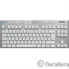 920-010117 Logitech Клавиатура G915 TKL WHITE {механическая, белый, беспроводная/проводная, RGB LIGHTSYNC, USB, Bluetooth, радиоканал}